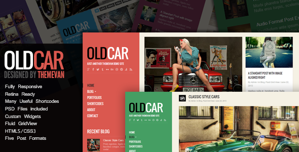ThemeForest OldCar Responsive Blog & Grid WordPress Theme 5046774
