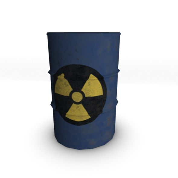 Metal Barrel Model - 3DOcean Item for Sale