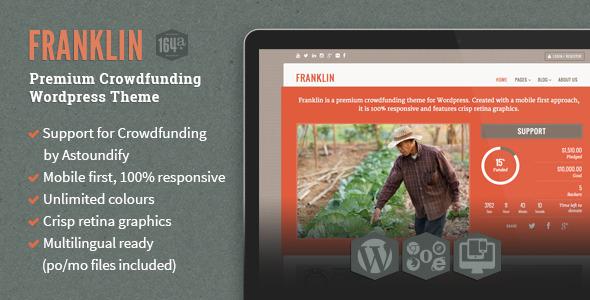 ThemeForest Franklin Wordpress Crowdfunding Theme 5063650