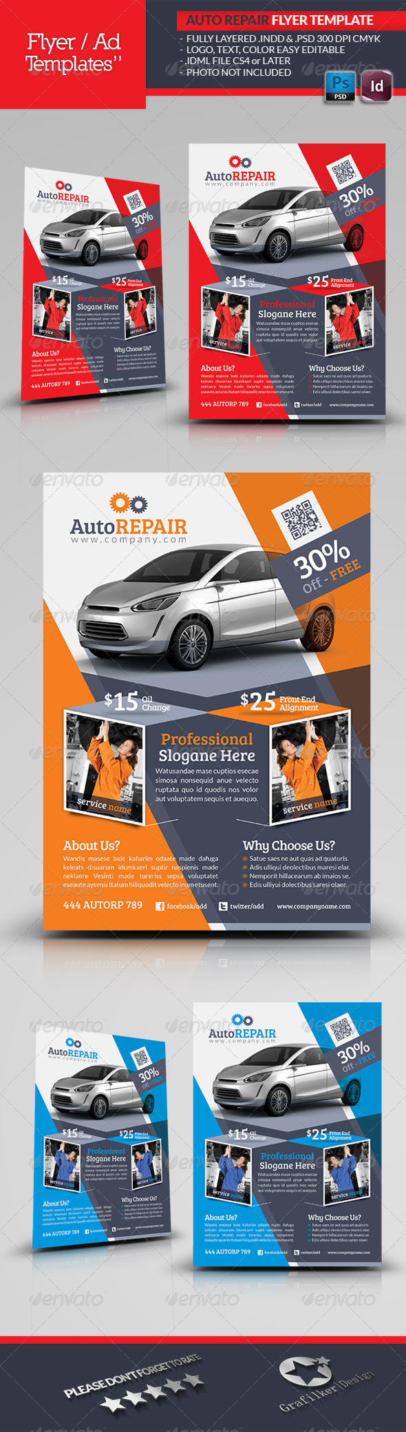 Automobile Repair Flyer Template - Corporate Flyers