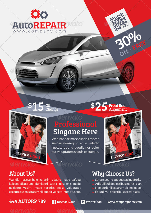 Automobile Repair Flyer Template
