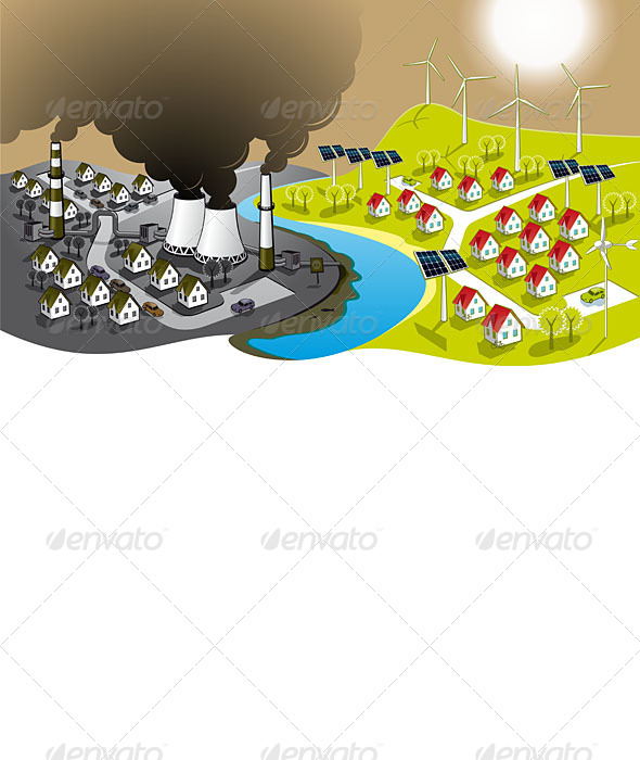GraphicRiver Eco-Friendly City 5063910