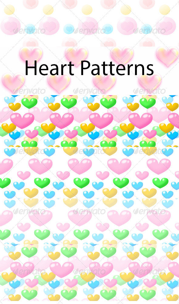 GraphicRiver Heart Patterns 5064403