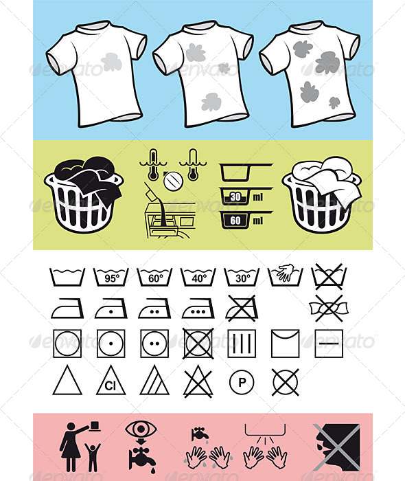 GraphicRiver Handling and Care of Clothing 5064487