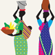 Women from Africa Walking - GraphicRiver Item for Sale