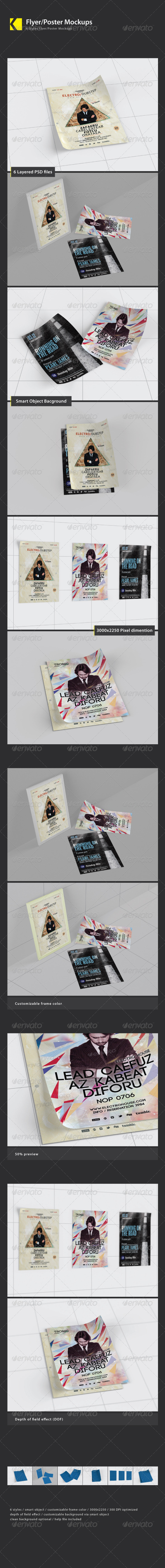 Flyer/Poster Mockups - Product Mock-Ups Graphics
