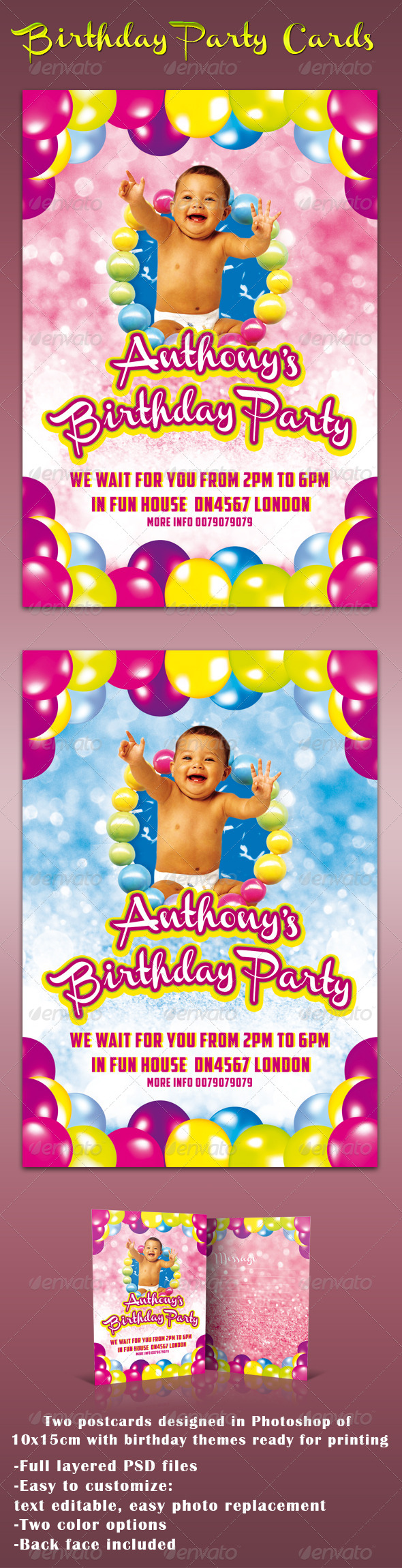 GraphicRiver Birthday Cards 4916866