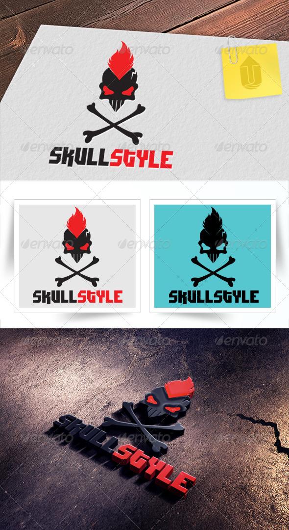 GraphicRiver Skull Style Logo 5065062