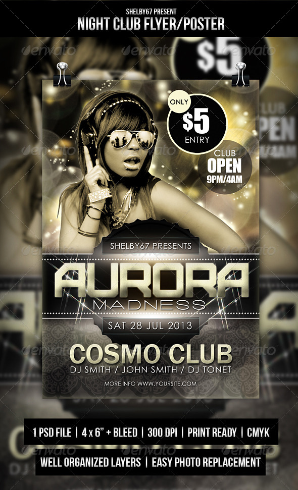 GraphicRiver Night Club Flyer Poster 5065131