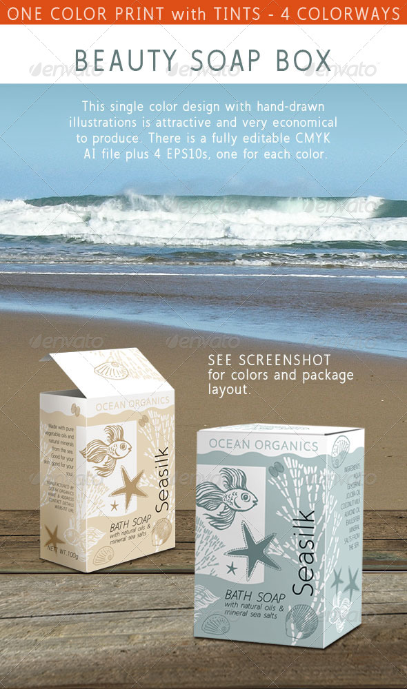 GraphicRiver Beauty Soap Box Inspired by the Ocean and Sea 5065211