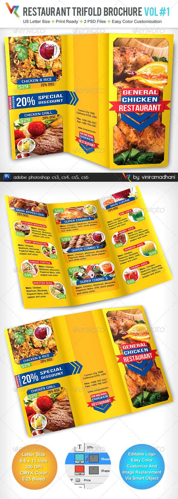 GraphicRiver Restaurant Menu TriFold Brochure 5065221