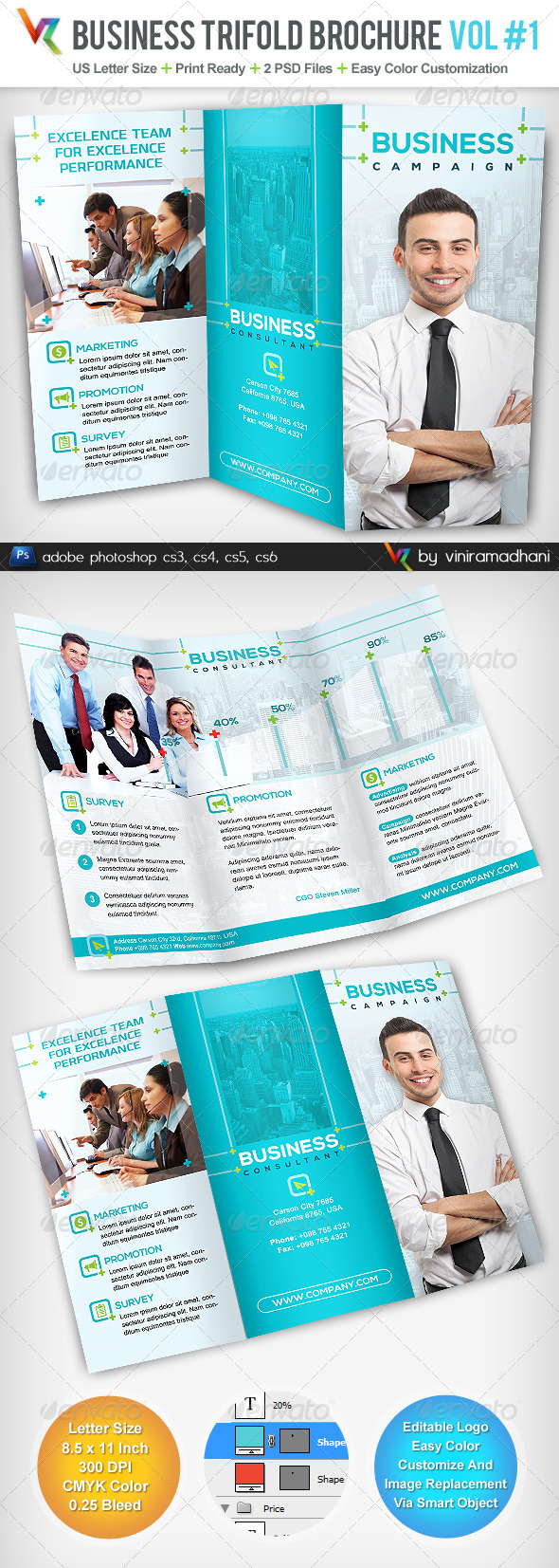 GraphicRiver Business TriFold Brochure 5065226