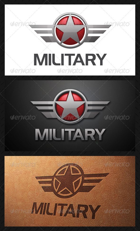 GraphicRiver Military Crest Logo Template 5065234