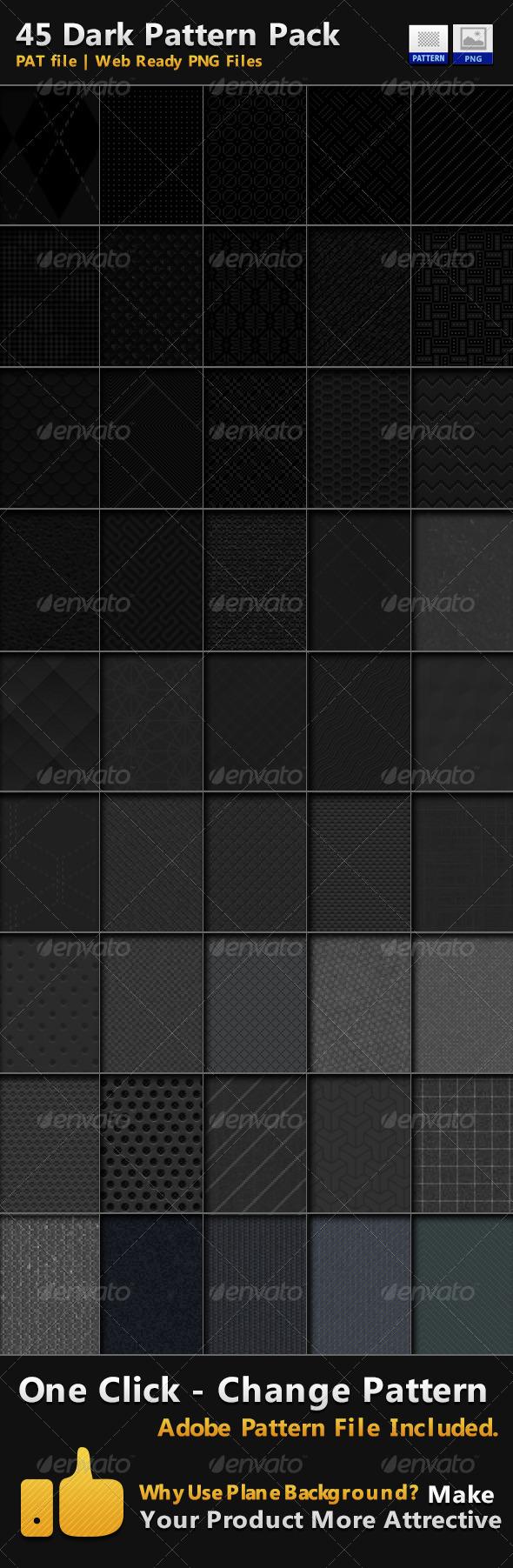GraphicRiver 45 Dark Pattern Pack 5065382