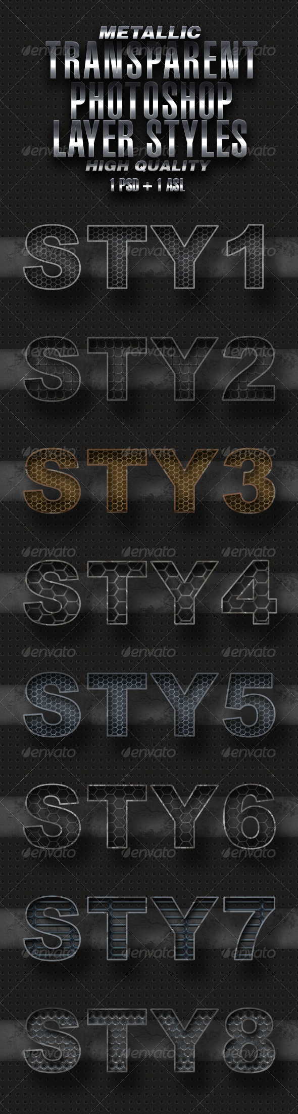 GraphicRiver Metallic Transparent Styles 5065386