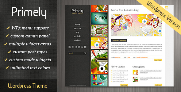 Primely Wordpress Theme - theme preview screenshot
