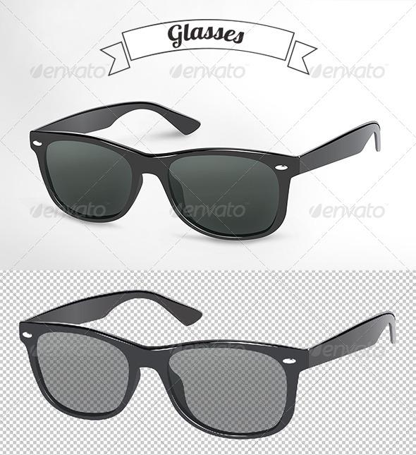GraphicRiver Black Glasses 5051315