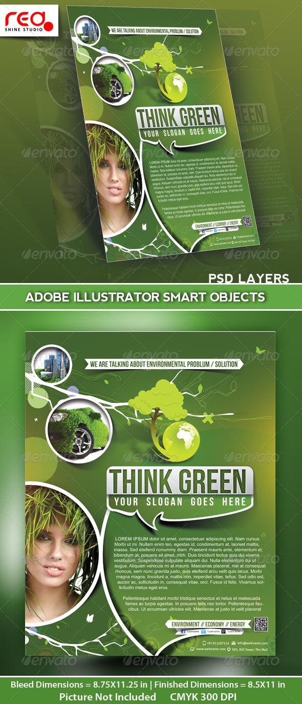 GraphicRiver Eco Multipurpose Flyer Poster Magazine Template 5066043
