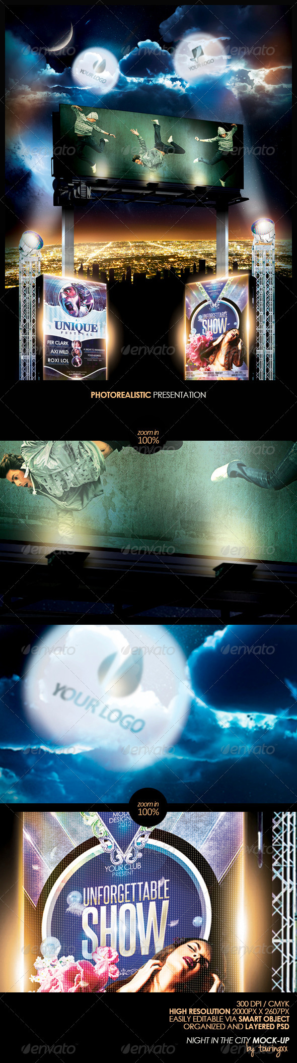 GraphicRiver Night In The City Mock-Up 5060191