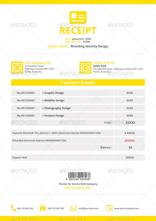 Gstudio Invoices And Receipt Template By Terusawa