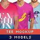 V-Neck Tee Mock-Up Pack - GraphicRiver Item for Sale