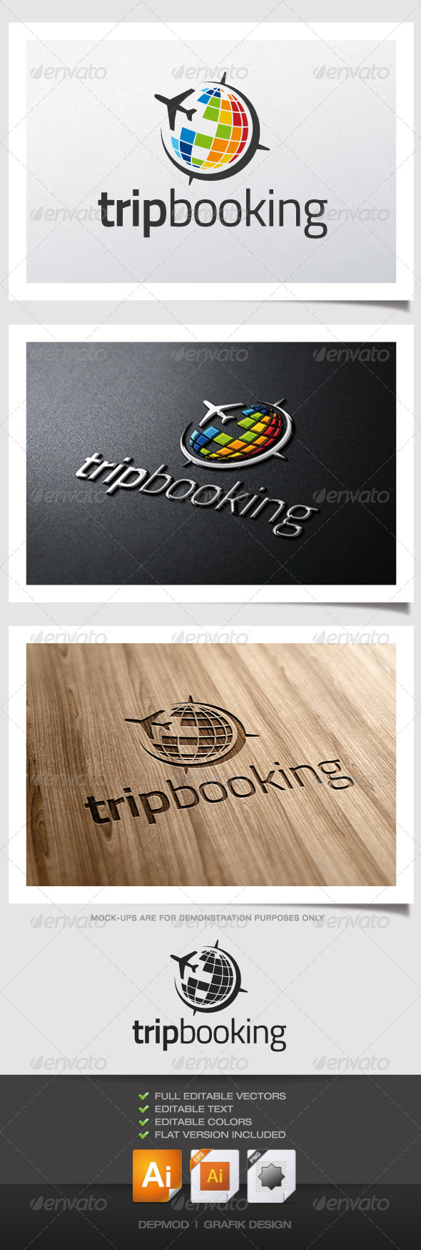 Trip Booking Logo - Symbols Logo Templates