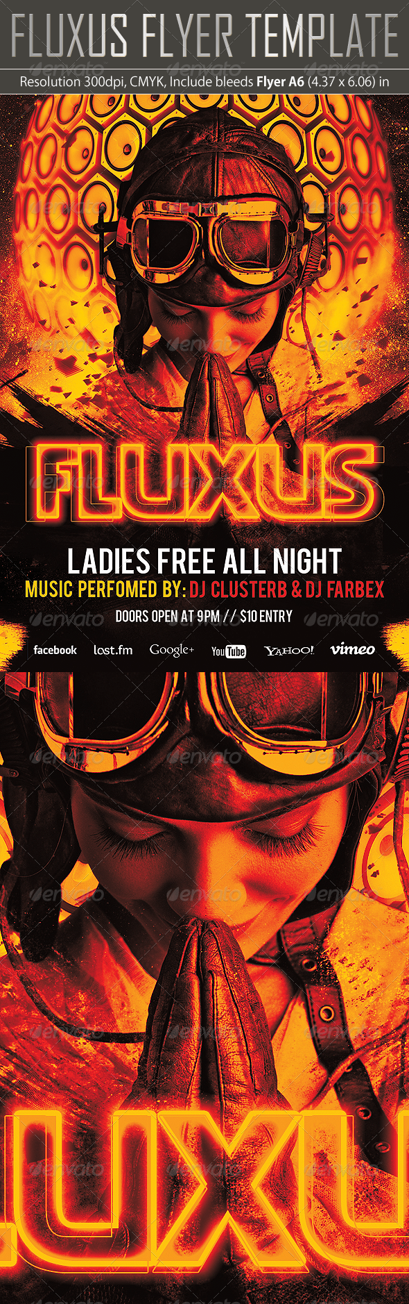 Fluxus Flyer Template - Clubs & Parties Events