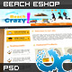 Holiday Beach Shop Website 01 - ThemeForest Item for Sale