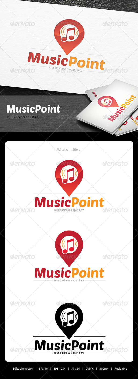 GraphicRiver Music Point Logo 5067059