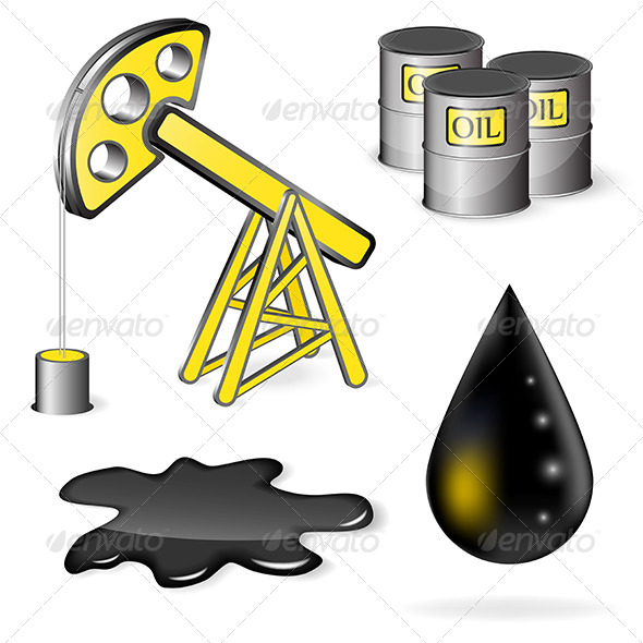 GraphicRiver Oil Icon Set 5067091
