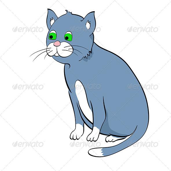 GraphicRiver Blue Cat 5067196