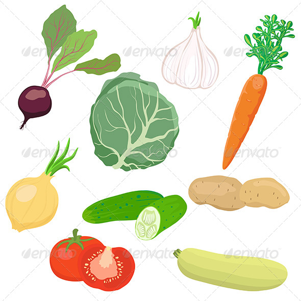 GraphicRiver Vegetable Set 5067206