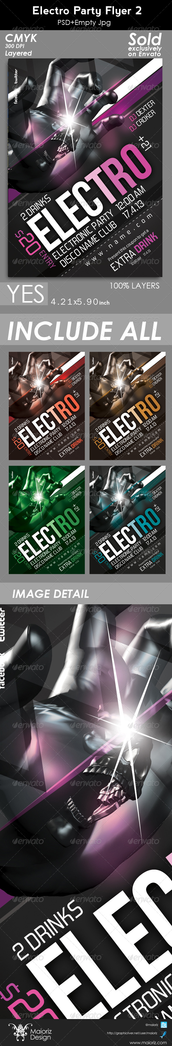 GraphicRiver Electro Party Flyer 2 5002495