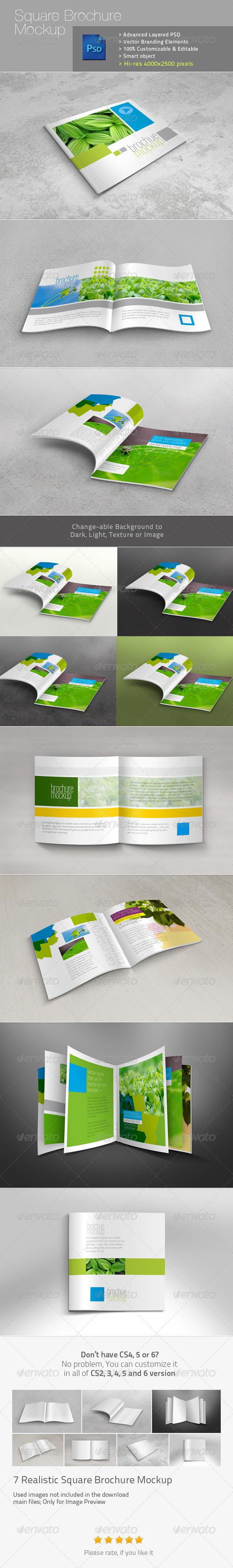 GraphicRiver Square Brochure Realistic Mockup v1 5067718