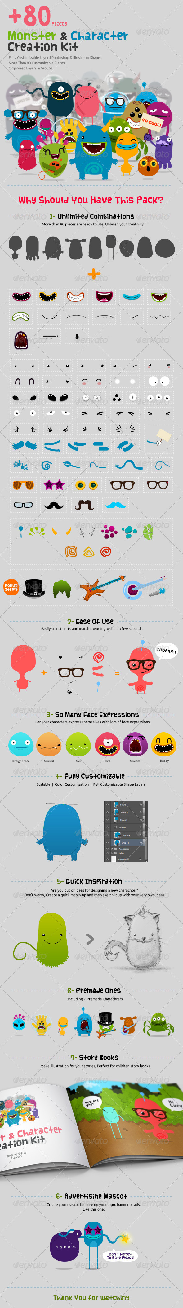 GraphicRiver Character & Monster Creation Kit 5045134