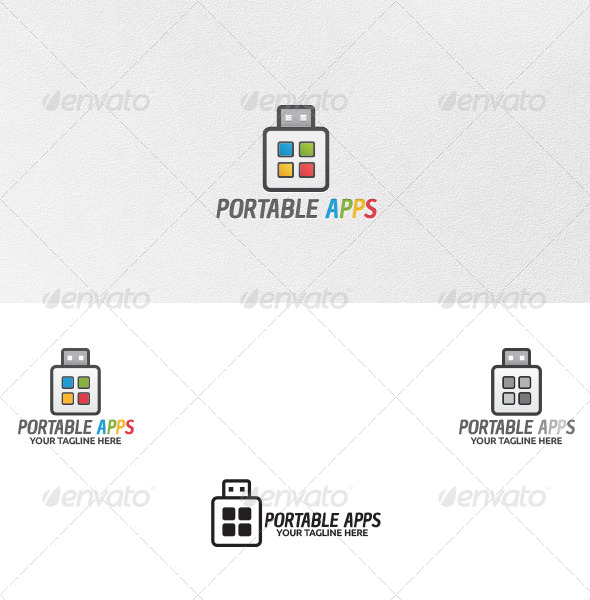 GraphicRiver Portable Apps Logo Template 5068500