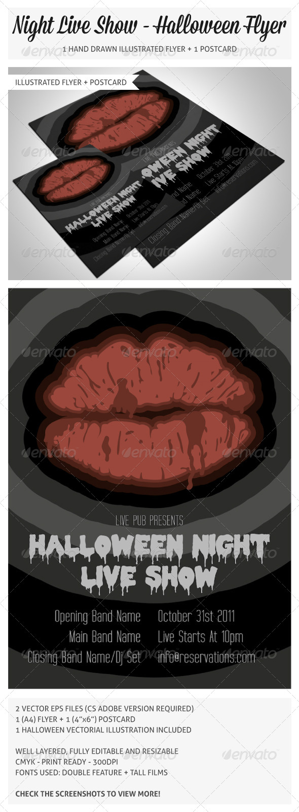 Hand Drawn Halloween Flyer 2 - Clubs & Parties Events