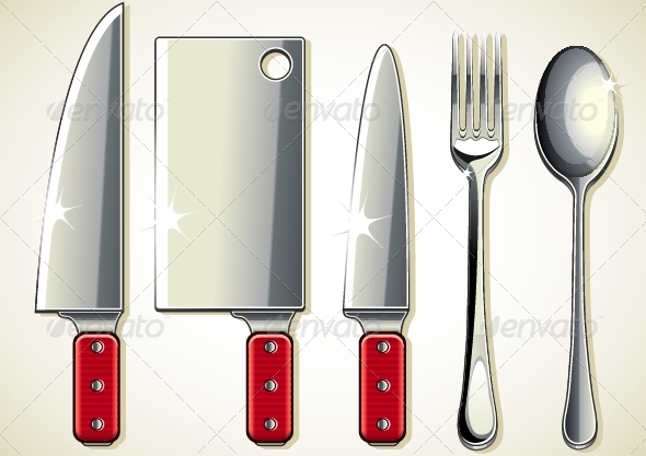 GraphicRiver Spoon Knifes and Fork 5057063
