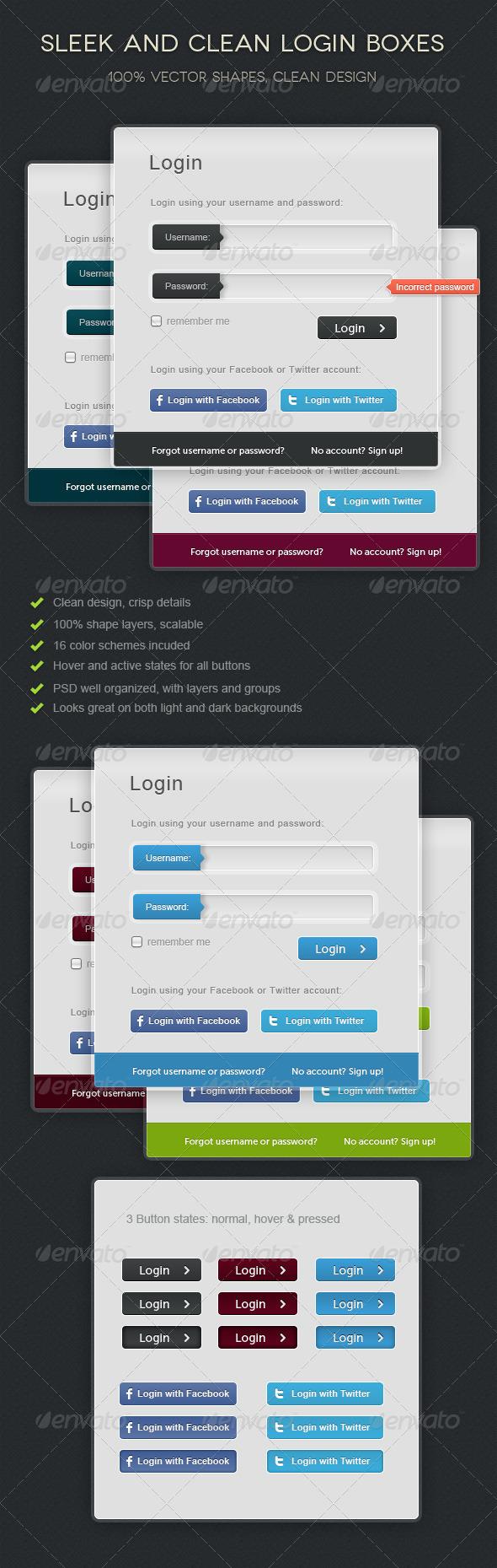 GraphicRiver Sleek Login Forms 520857