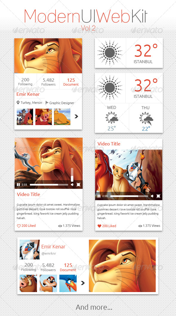 GraphicRiver Modern UI Web Kit Vol 2 5069162