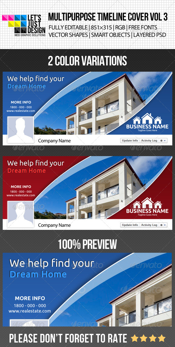 GraphicRiver Multipurpose Facebook Timeline Cover Vol 3 5069654