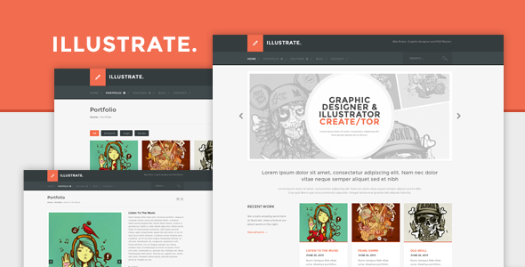ThemeForest Illustrate Responsive Portfolio & Blog Theme 5069761