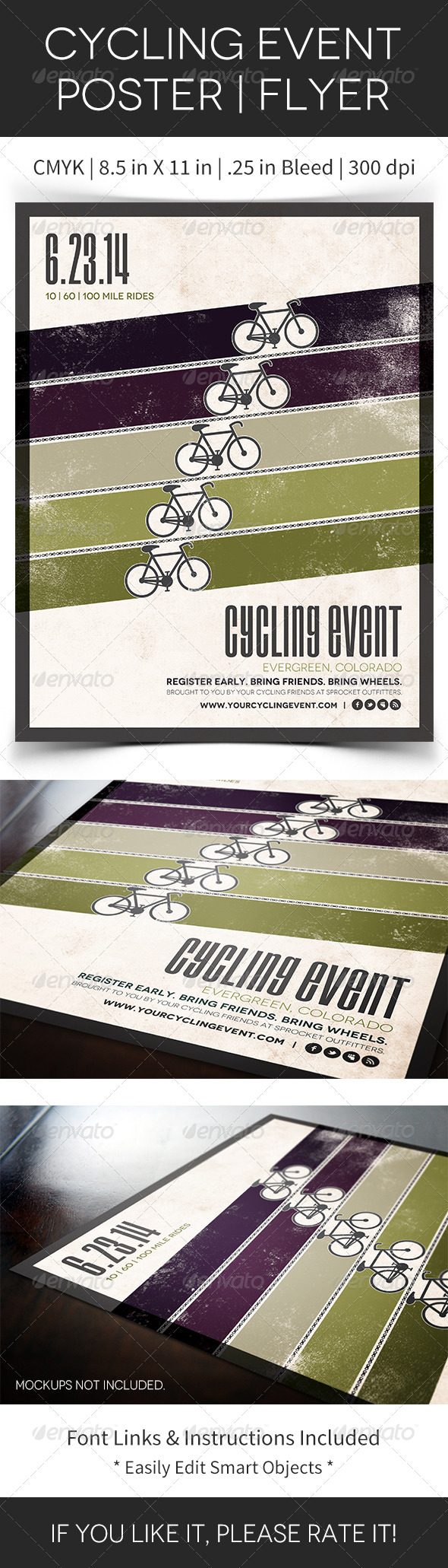 GraphicRiver Cycling Event Poster Flyer 5070041