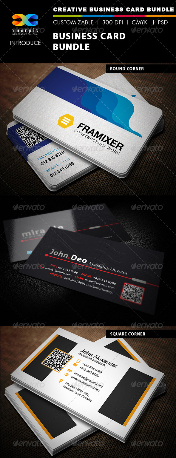 GraphicRiver Business Card Bundle 3 in 1-Vol 6 5070488