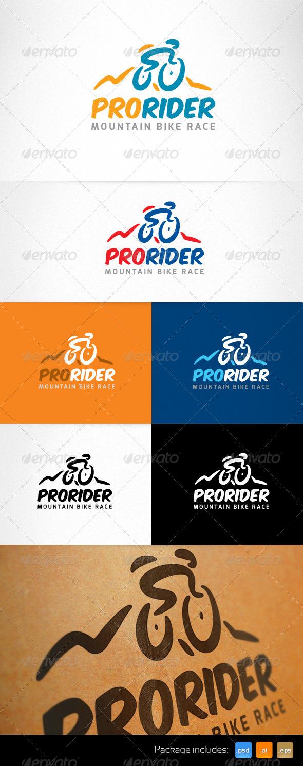 GraphicRiver Mountain Sport Bike Race Creative Logo 5071143