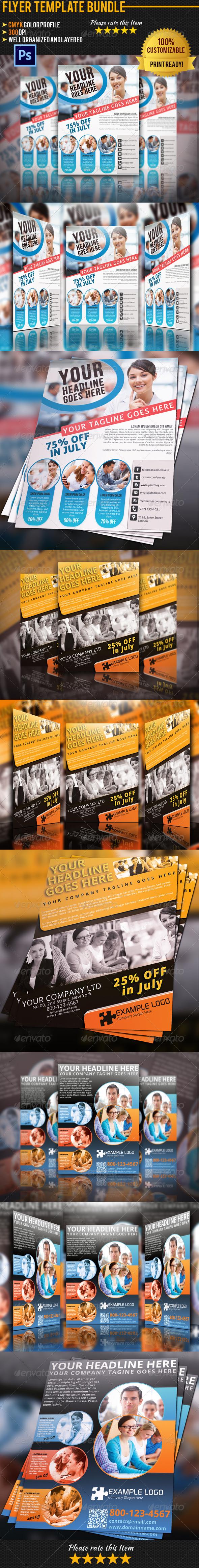 GraphicRiver Multipurpose Business Flyer Bundle 02 5071212