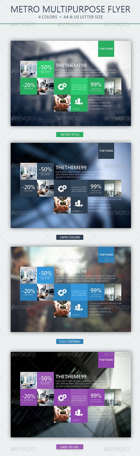 GraphicRiver Metro Corporate Flyer 5071236