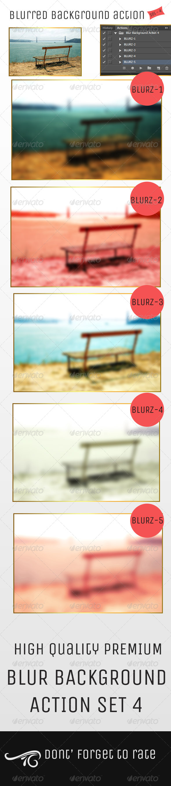 GraphicRiver Blur Background Action Set V4 5071333