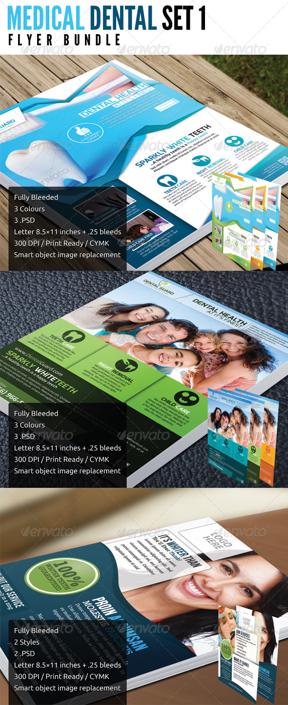 Medical Dental Bundle Set 1 - Corporate Flyers