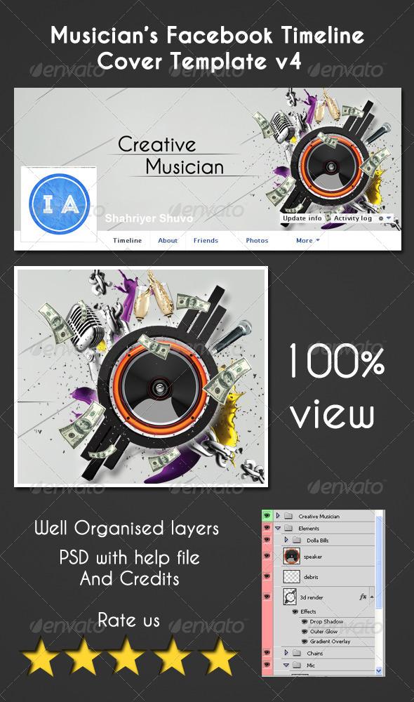 GraphicRiver Musician s Facebook Timeline Cover V4 5072013